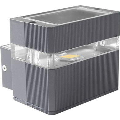 Aplique MORITA IP54 1x3W LED 4000K L.11xAn.10xAl.9,5cm Aluminio + Policarbonato + Vidrio (PC) Gris