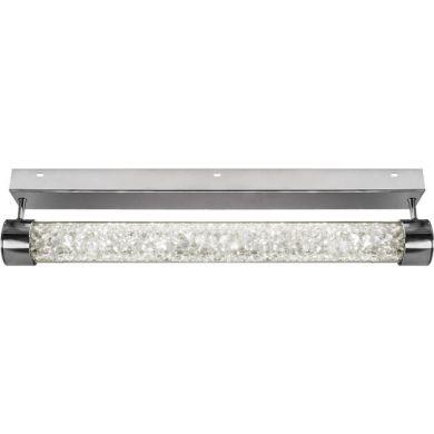 Plafond MINSK 1x24W LED 1920lm 4000K C.60xL.13,5xAlt.6,5cm Transparente/Cromado