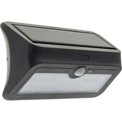 Aplique Solar BONAPARTE con sensor IP65 1x5W LED 200lm 6400K L.20xAn.7,5xAl.11,5cm Negro