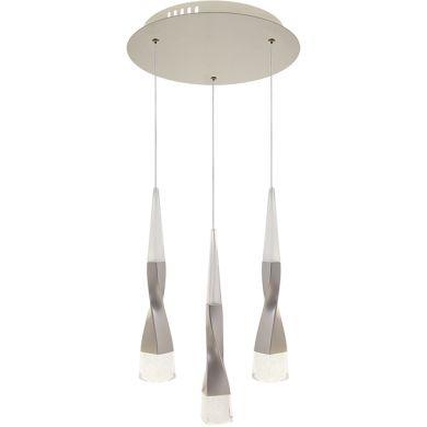 Ceiling Lamp METEOR 3x7W LED 1570lm 3300K H.Reg.xD.30cm Champanhe