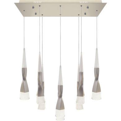 Ceiling Lamp METEOR 8x7W LED 4200lm 3300K L.65xW.22xH.Reg.cm Champanhe