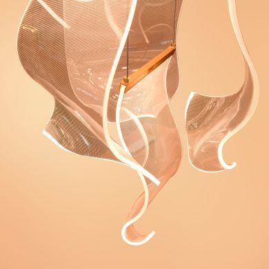 Ceiling Lamp CLAIRE 96+96W LED H.Reg.xD.80cm Chrome