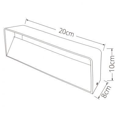 Aplique ETEL 1x5W LED 520lm 3000K L.20xAn.8xAl.10cm Blanco