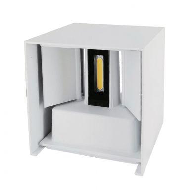 Aplique SOR IP67 2x3W LED 500lm 4000K L.10xAn.10xAl.10cm Blanco