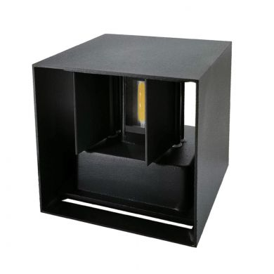 Aplique SOR IP67 2x3W LED 500lm 3000K L.10xAn.10xAl.10cm Negro