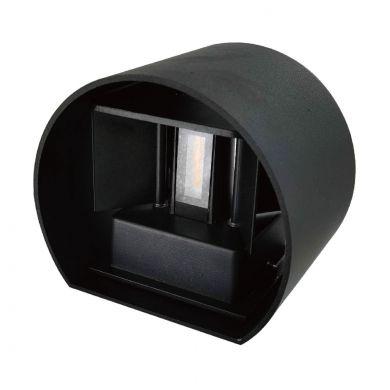 Aplique SALAS IP65 2x3W LED 500lm 4000K L.14xAn.12xAl.10cm Negro