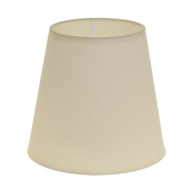 Lampshade CIPRIOTA round & conic fabric PVC802 with fitting E27 H.14xD.15cm Beije