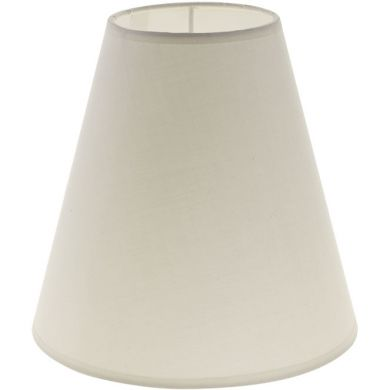 Lampshade CIPRIOTA round & conic fabric PVC802 with fitting E27 H.20xD.20cm Beije