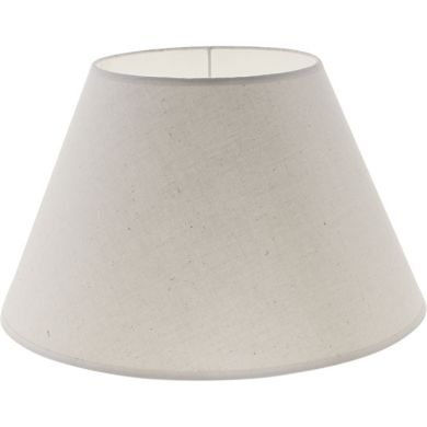Lampshade CIPRIOTA round & conic fabric PVC8886 with fitting E27 H.21xD.35cm Natural (Raw)