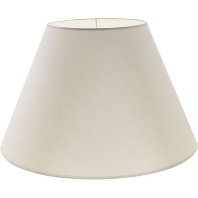 Lampshade CIPRIOTA round & conic fabric PVC802 with fitting E27 H.28xD.45cm Beije