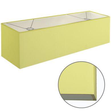 Abat-jour ESPANHOL rectangular com encaixe E14 C.75xL.20xAlt.20cm Verde