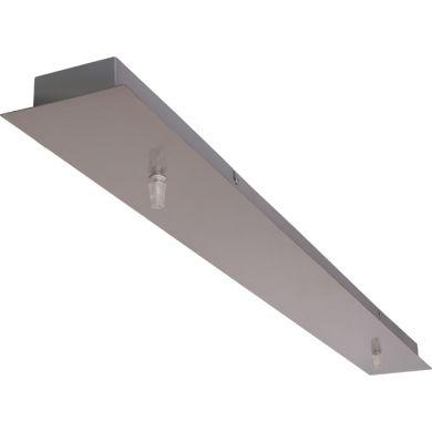 Barra para candeeiro de tecto PORTO sem electrificação C.123xL.10xAlt.3cm Níquel