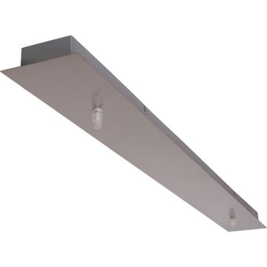 Holder for Ceiling Lamp PORTO without wiring L.100xW.10xH.3cm Satin Nickel