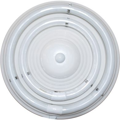Plafón CIRCE redondo 1xG10q T9 circ.+1x32WG10q (T9 circ.) Al.9xD.36cm Blanco