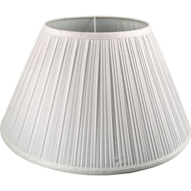 Lampshade CUBANO round & conic pleated with fitting E27 H.24xD.45,5cm Ivory