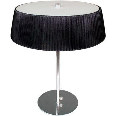 Table Lamp ASTRID 3xE27 H.47xD.38cm Black/Chrome
