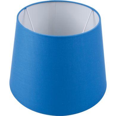 Abat-jour BRITANICO redondo cónico com encaixe E27 Alt.20xD.25,5cm Azul