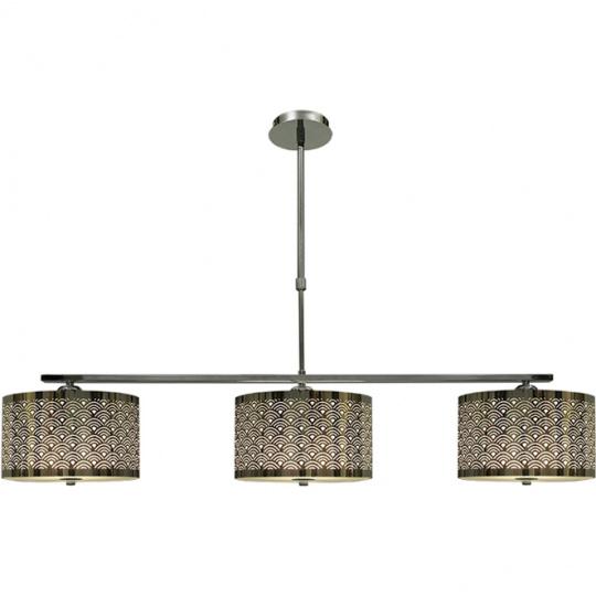 Lámpara de Techo TORONTO 3xE27 L.110xAn.25xAl.Reg.cm Cromo