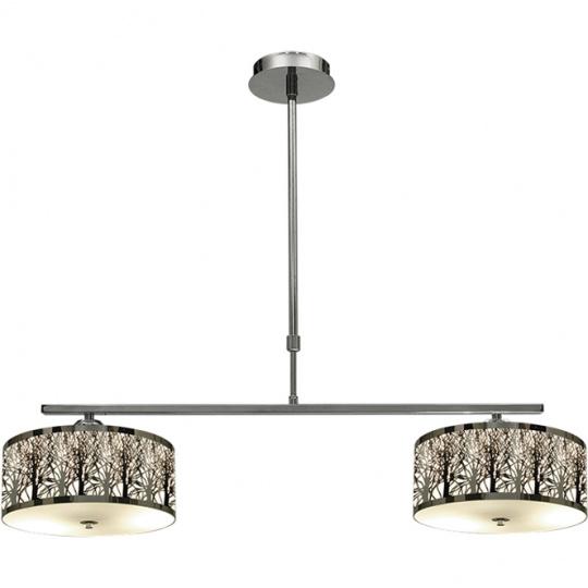 Ceiling Lamp MONTREAL 2xE27 L.85xW.30xH.Reg.cm Chrome