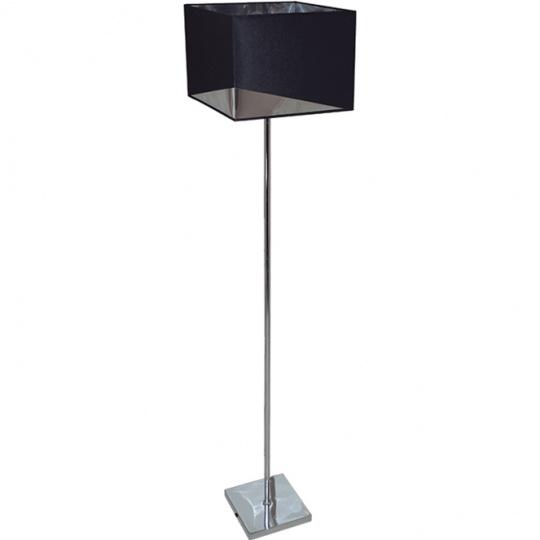 Floor Lamp DIAGONAL 1xE27 L.30xW.30xH.145cm Black/Chrome