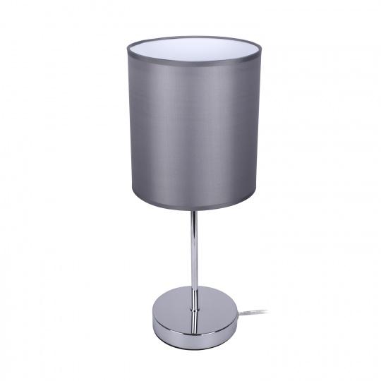 Table Lamp NICOLE 1xE14 H.38xD.16cm Grey/Chrome