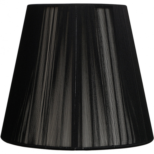 Lampshade INDIRA round & conic in threads with clamp H.9xD.14cm Black