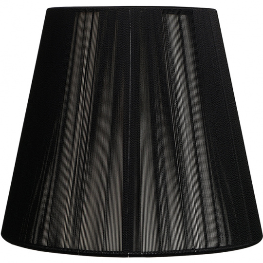 Lampshade INDIRA round & conic in threads with fitting E27 H.21,5xD.35cm Black