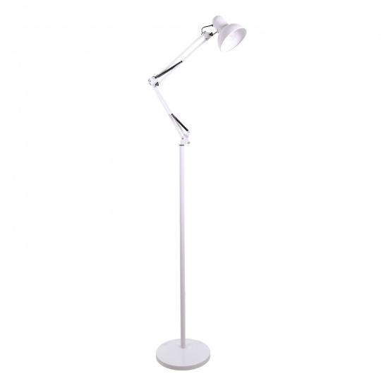 Lámpara de Pie ANTIGONA articulado 1xE27 L.28xAn.60xAl.Reg.cm Blanco