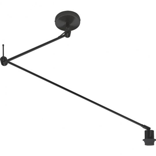 Lámpara de Techo HAIA brazo articulado sin pantalla 1xE27 L.13xAn.90xAl.Reg.cm Negro