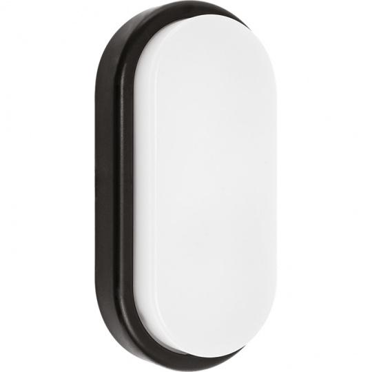 Aplique SURF ECOVISION oval IP65 1x12W LED 960lm 6400K 120°L.10xAn.5xAl.20cm Plicarbonato (PC) Negro