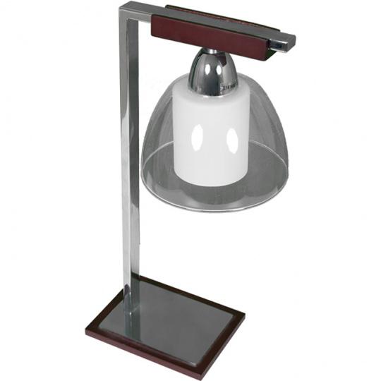 Table Lamp LONDRINA 1xE14 L.14xW.18xH.37cm Wengue/Chrome