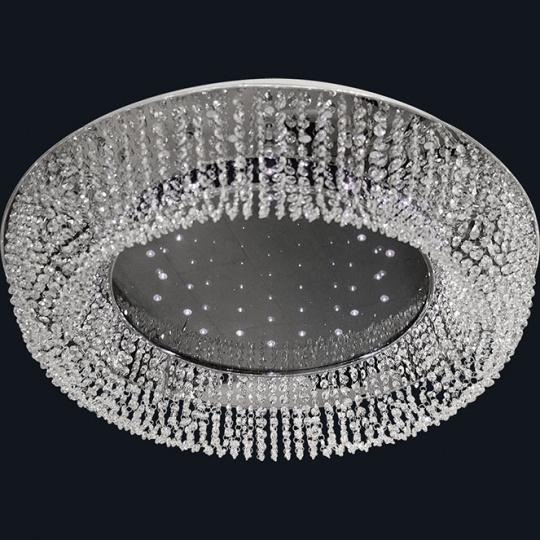 Plafond VIOLET large 25xG4 12V+90x0.06W LED H.19xD.100cm Chrome