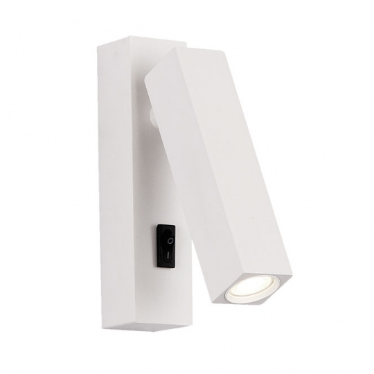 Wall Lamp 9250 steerable 3W LED 210lm 4000K W.3,5xW.3xH.14cm White