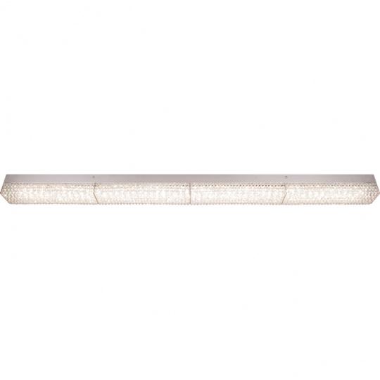Aplique HELSÍNQUIA 1x36W LED 3240lm 4000K C.118xL.7xAlt.7,5cm Transparente/Cromado