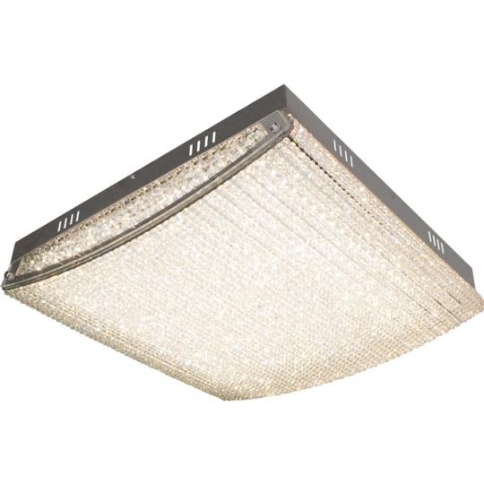 Plafond HELSÍNQUIA 1x48W LED 4320lm 4000K L.52xW.58xH.12cm Transparent/Chrome