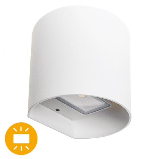 Aplique SABOR IP54 2x4W LED 650lm 4000K 95°L.11xAn.9,5xAl.11cm Aluminio Blanco