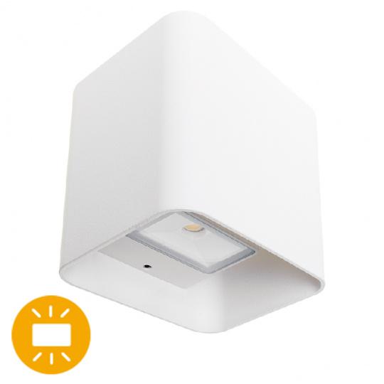 Aplique SOURE IP54 2x4W LED 650lm 4000K 95°L.11xAn.9,5xAl.11cm Aluminio Blanco