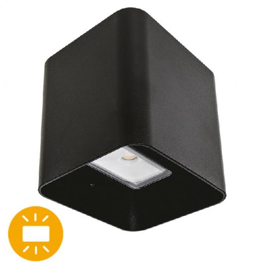 Aplique SOURE IP54 2x4W LED 650lm 4000K 95°L.11xAn.9,5xAl.11cm Aluminio Negro