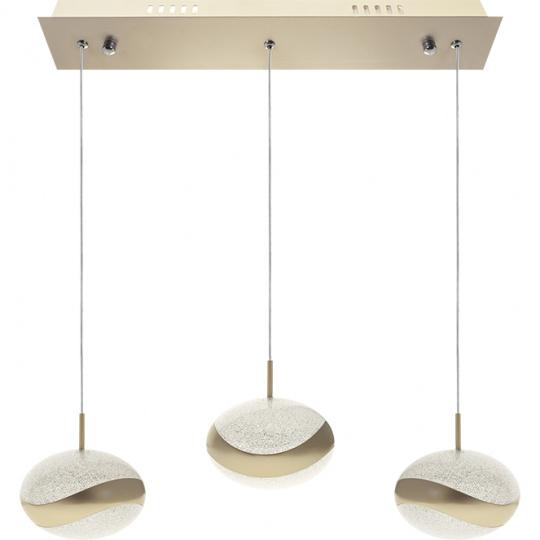 Candeeiro de tecto PLANETT 3x8W LED 1800lm 3300K C.48xL.8xAlt.Reg.cm Champanhe