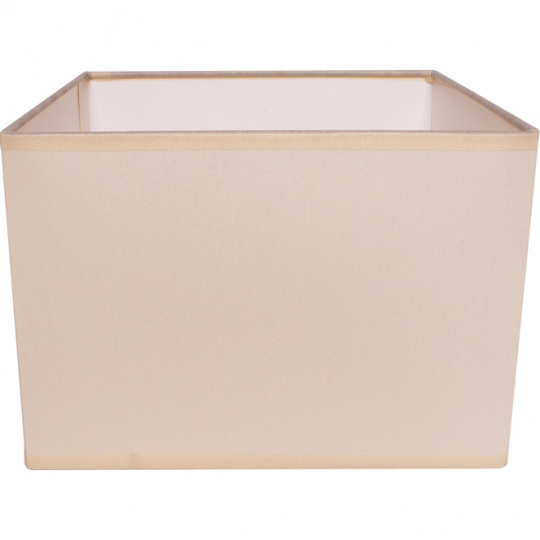 Lampshade GREGO square with fitting E14 L.20xW.20xH.15cm Beije
