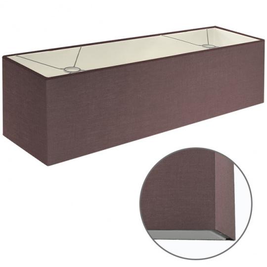 Abat-jour ESPANHOL rectangular com encaixe E14 C.75xL.20xAlt.20cm Castanho