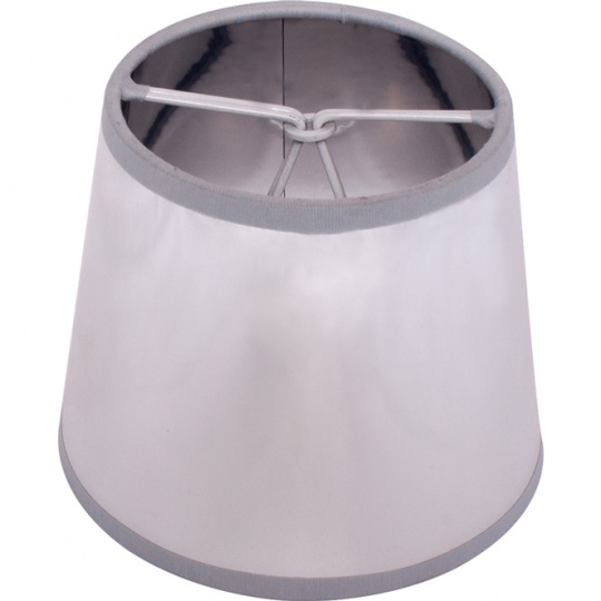 Lampshade LITUANO round & conic small with clamp H.10xD.12cm Silver