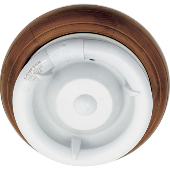Plafond CIRCE round 1xG10q T9 circ. H.9xD.28cm Brown/Walnut