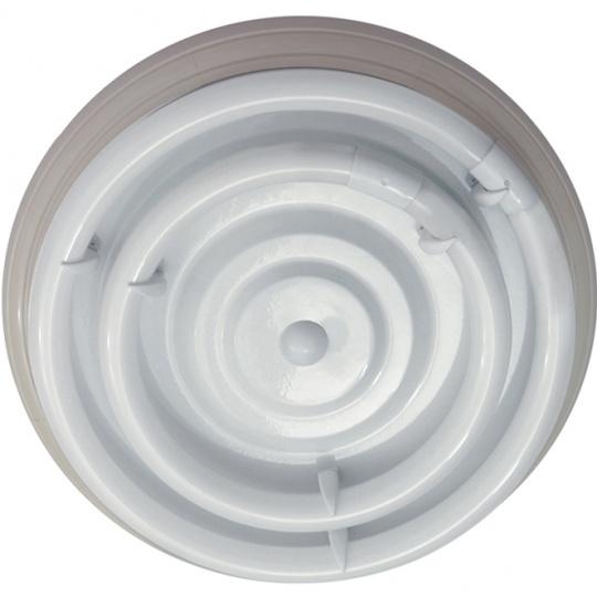 Plafón CIRCE redondo 1xG10q T9 circ.+1x40WG10q (T9 circ.) Al.9xD.46cm Blanco
