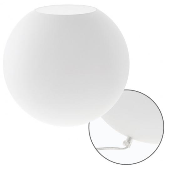 Table Lamp HERNER 1xE27 xD.30cm Glass White