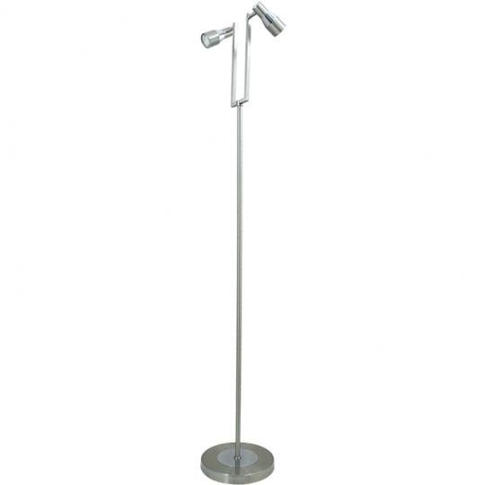 Lámpara de Pie TELMO 2xGU10 L.29xAn.25xAl.156cm Niquel