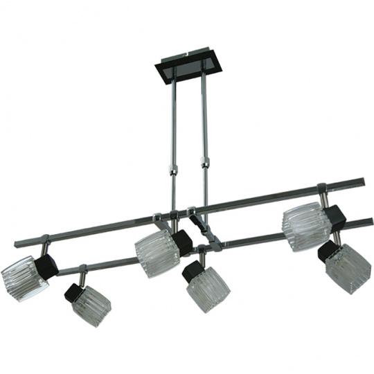 Lámpara de Techo DIOGO 6xG9 L.75xAn.34xAl.Reg.cm Wengue/Cromo