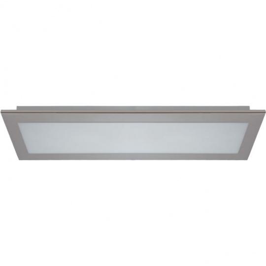 Plafond SODALITE rectangular 2xG13 T8 LED 60cm L.73xW.25xH.6cm Satin Nickel