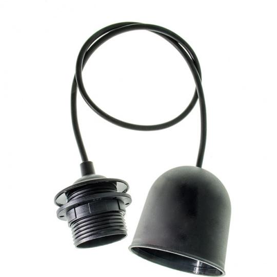 Armazón para Colgante PN 1xE27 Al.Reg.xD.7cm Negro (022543)