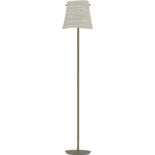 Floor Lamp ILDA 1xE27 L.38xW.22xH.180cm Metal+Glass White/Satin Nickel